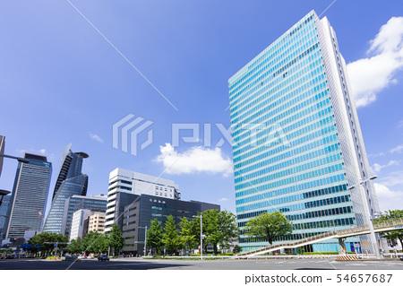 나고야시 나카 구 名駅南 도시 풍경 下広井 도시 교차로 스미토모 생명 나고야 빌딩 54657687