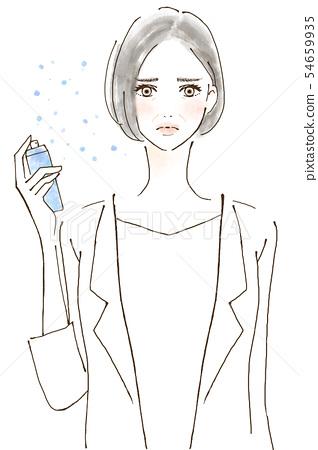 미용 뷰티 에스테틱 피부 트러블 안티 에이징중인 시니어 여자 54659935