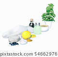 Spa, still-life, with, drug, plants, and, cosmetic 54662976