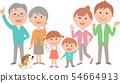 一個活潑的六人家庭聚集了Vivid 54664913