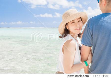 海外旅行形像海灘海人 54670190