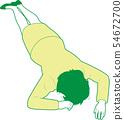 Woman 2 lying down prone 54672700