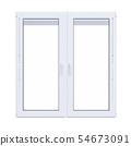 White plastic window isolated 54673091