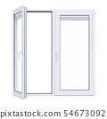 White plastic window isolated 54673092