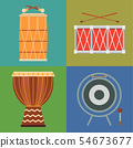 Musical drum wood rhythm music instrument series percussion musician performance illustration 54673677