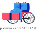 Carriage coach vector vintage transport with old wheels and antique transportation illustration set 54673734