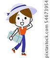 去的女孩旅行01女孩旅行的例证 54673954