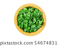 Fresh parsley  a wooden bowl isolated on a white 54674831