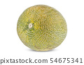 whole melon on white background 54675341