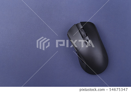 computer mouse on blue background 54675347