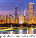 Chicago downtown and Lake Michigan 54675854