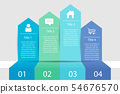 Timeline infographic four step business 54676570
