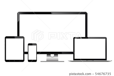High quality illustration set of modern devices 54676735