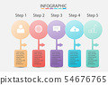 Pastel Color of Step Business infographic data 54676765