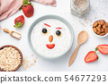 Chia pudding with fruits and nuts for kids 54677293