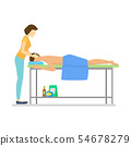 Cartoon Characters People and Massage Procedure with Aroma Oils. Vector 54678279