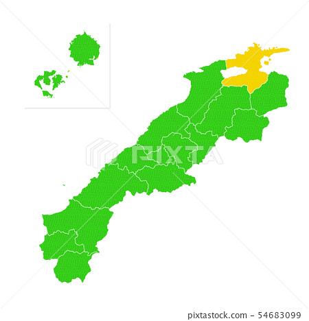 島根縣和松江市地圖 54683099