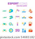 Gradient design icon set of esport concept 54683182