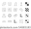 Line design icon set of esport concept 54683183