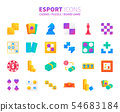 Gradient design icon set of esport concept 54683184