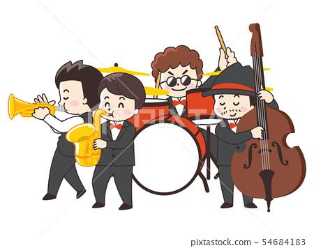 爵士樂隊演奏 54684183