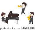 피아니스트 트럼펫 색소폰 연주자 54684188