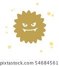 病毒手拉的樣式例證 54684561