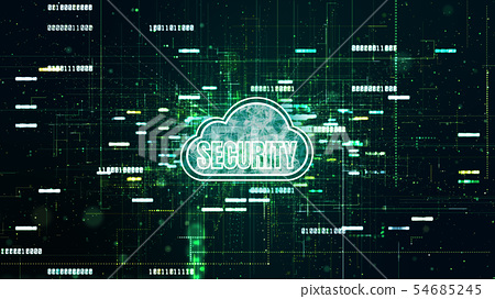 Technology Digital Data Network Connection, Secure 54685245