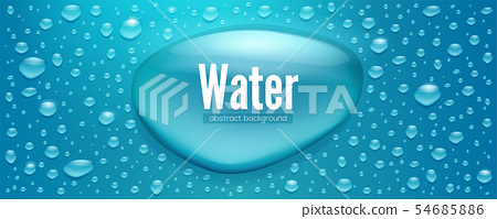 Realistic water drops. Template for water 54685886