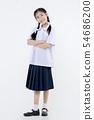 Portrait of Lovely Asian girl in school uniform 54686200