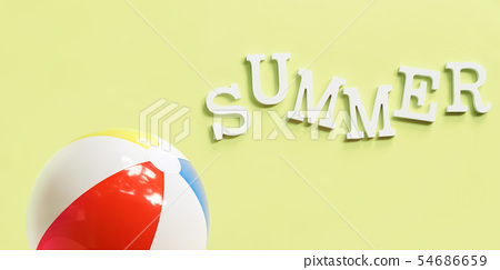 inflatable color ball summer time volume letters 54686659