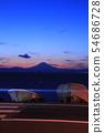 Sunset sky seen from Manase coast 54686728