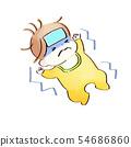 컨디션이 나쁜 아기 수채화 풍 54686860