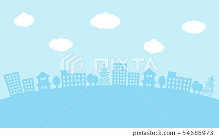 天空和城市景觀 54686973