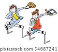 职业女性和家庭主妇跳过障碍 54687241