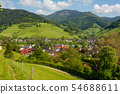 The small village Muenstertal in the Black Forest 54688611