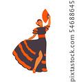 Spanish dancer girl vector 54688645