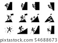 Set of Hiking and climbing icon, vector art 54688673