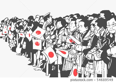 Reiwa celebration crowd Golden Week Japan 54689549