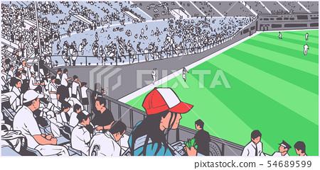 Illustration of stadium crowd at sports event 54689599