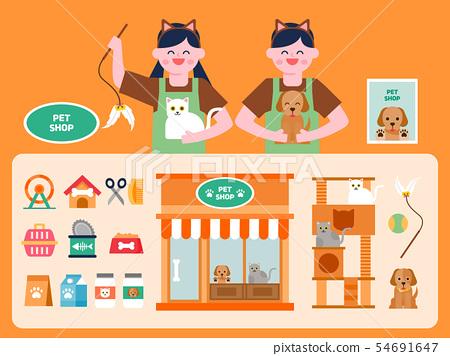 Shop illustration set 05 54691647