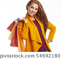 Woman and autumn shopping 54692180