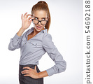 business woman in glasses 54692188