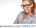business woman in glasses 54692197