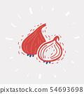 Onion vector icon 54693698