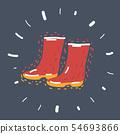 Rubber boots on dark background. 54693866