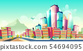 Modern city downtown development cartoon vector 54694095