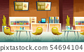 Cafe, mall food court interior cartoon vector 54694104