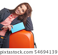 young female business traveller portrait 54694139
