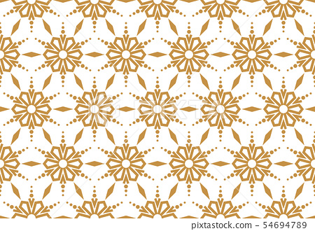 Abstract geometric pattern with lines, snowflakes. 54694789